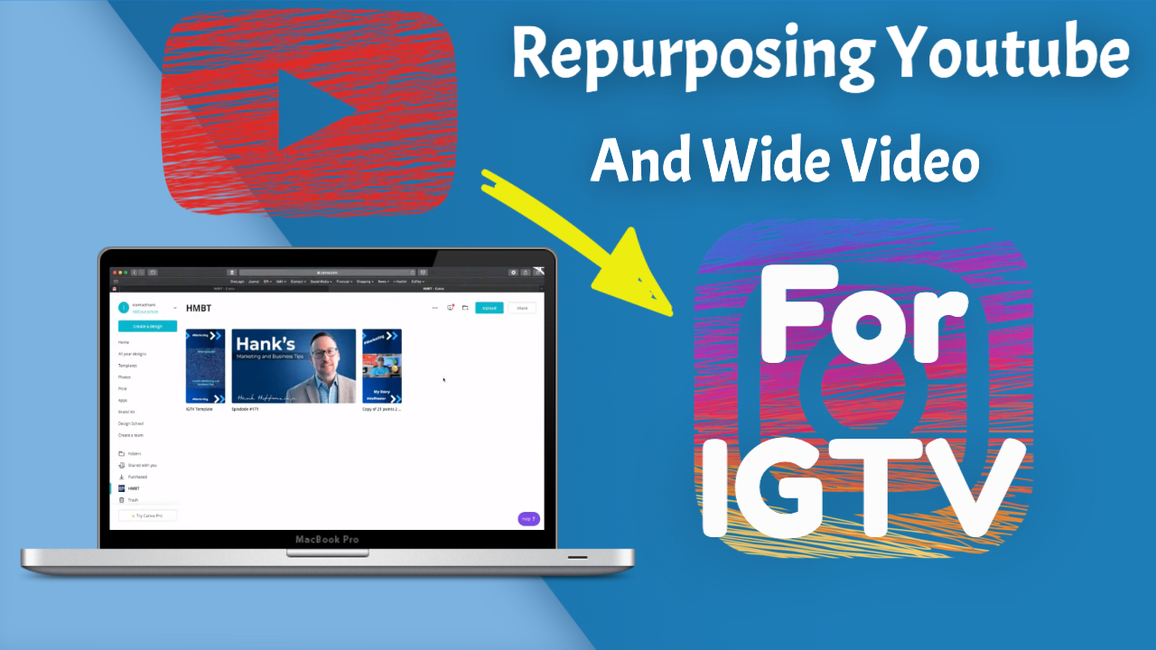 Repurposing Youtube or Wide Video for Instagram